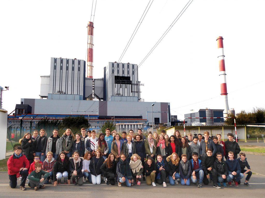 Les élèves de 3e de Sainte à la centrale EDF de Cordemais