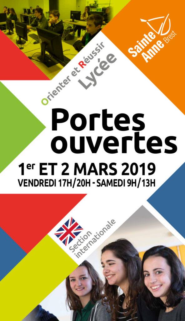Portes Ouvertes Lycée 2019 Sainte Anne Brest